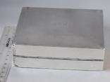 Коробка для сигарет, серебро, Великобритания, вес брутто 485 грамм, фото №4