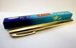 Перьевая ручка с иридиевым наконечником . Ручка с золотым пером ., фото №2