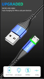 Кабель Micro USB USLION 3A, 1 м фото 2