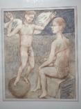 Ангел на шаре б./паст. 38х30 см., 2000г. В.Павлов. копия., фото №4