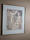 Ангел на шаре б./паст. 38х30 см., 2000г. В.Павлов. копия., фото №9