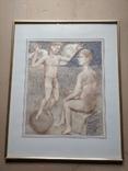 Ангел на шаре б./паст. 38х30 см., 2000г. В.Павлов. копия., фото №10