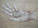 """Рука творца"" б.кар. 32х43 см.2020г. В. Павлов, фото №3"