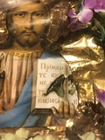 Икона Иисуса Христа в киоте. 26х22 см., фото №5