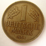 Германия. ФРГ 1 марки 1964 года.J, фото №2