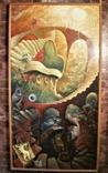 ,, Лестница в небо ,, сюрреализм масло,холст в раме 83х152, фото №5