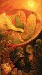 ,, Лестница в небо ,, сюрреализм масло,холст в раме 83х152, фото №2