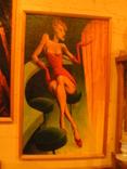 ,, Девушка  в баре,, холст на картоне масло рамка 31х50, фото №2
