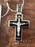 Крестик с эмалями,925пр., фото №4