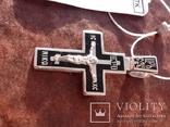 Крестик с эмалями,925пр., фото №6
