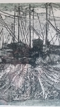 Кецало З. Рибальські сіти, 1975, змішана техніка, 35,5х41см5, фото №5