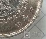 "Швеция 1 крона 1947г серебро ""трещина штампа"", фото №4"