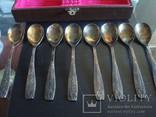 Набор чайных ложек,МНЦ,знак качества СССР,патина, фото №5