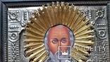 Ікона Микола Чудотворець, латунь, 31х26 см, фото №4