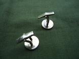 Запонки серебро 925, вставки золото 585, фото №9