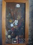 Картина Цветы,масло,картон 76/38см. 1997г. Микиша, фото №3