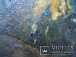 Картина Цветы,масло,картон 76/38см. 1997г. Микиша, фото №7