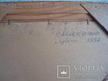Картина Цветы,масло,картон 76/38см. 1997г. Микиша, фото №11