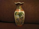 Старая азиатская ваза - фарфор - высота - 25,5 см., фото №2
