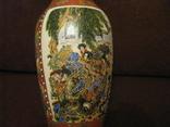 Старая азиатская ваза - фарфор - высота - 25,5 см., фото №3