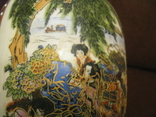 Старая азиатская ваза - фарфор - высота - 25,5 см., фото №4