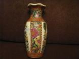 Старая азиатская ваза - фарфор - высота - 25,5 см., фото №5
