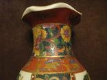Старая азиатская ваза - фарфор - высота - 25,5 см., фото №8