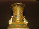 Старая азиатская ваза - фарфор - высота - 46 см., фото №3