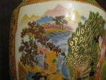 Старая азиатская ваза - фарфор - высота - 46 см., фото №6