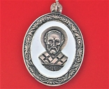 Подвеска медальон серебро 925 проба 4,31 грамма Николай чудотворец, фото №4