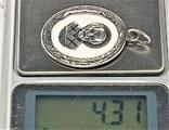 Подвеска медальон серебро 925 проба 4,31 грамма Николай чудотворец, фото №7