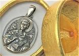 Подвеска медальон серебро 925 проба 6,20 грамма святой великомученик целитель Пантелеймон, фото №2