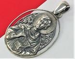 Подвеска медальон серебро 925 проба 6,20 грамма святой великомученик целитель Пантелеймон, фото №3