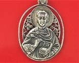 Подвеска медальон серебро 925 проба 6,20 грамма святой великомученик целитель Пантелеймон, фото №4