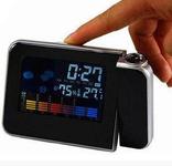 Настольные часы, метеостанция с проектором времени, фото №3