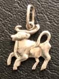 Кулон знак зодиака , Телец' серебро проба 925 ,звезда ', фото №2