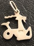 Знак зодиака ,Козерог ' 925 проба ,звезда ', фото №3