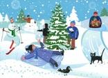 Открытки Новый год Рождество зима дети, фото №3