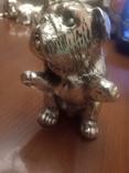 Миниатюрный Французский бульдог silver plated гальванопластика TEKFORM серебро 925 пр, фото №5