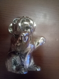 Миниатюрный Французский бульдог silver plated гальванопластика TEKFORM серебро 925 пр, фото №7