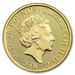 Золотая монета Великобритании Белая лошадь 2020 г.1/4 OZ(7,78 гр.), фото №3