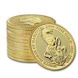 Золотая монета Великобритании Белая лошадь 2020 г.1/4 OZ(7,78 гр.), фото №4