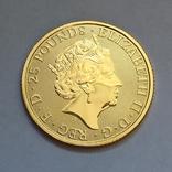 Золотая монета Великобритании Белая лошадь 2020 г.1/4 OZ(7,78 гр.), фото №7