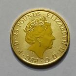 Золотая монета Великобритании Белая борзая 2021 г.1/4 OZ(7,78 гр.), фото №8
