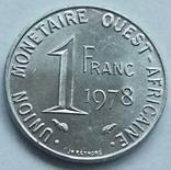 1 франк 1978 г. Западная Африка, фото №3