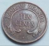 10 центов 1966 г. Уганда, фото №3