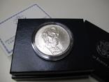 "1 доллар США (серебро): ""Абрахам Линкольн"" (2009 г.) UNC, фото №3"