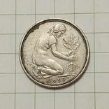 """Германия 50 пфеннигов 1950 год """"D"""", фото №3"""