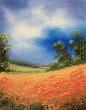 Картина, Краснопілля, 25х20 см. Живопис на полотні, фото №2