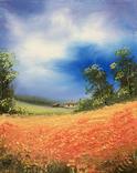 Картина, Краснопілля, 25х20 см. Живопис на полотні, фото №3
